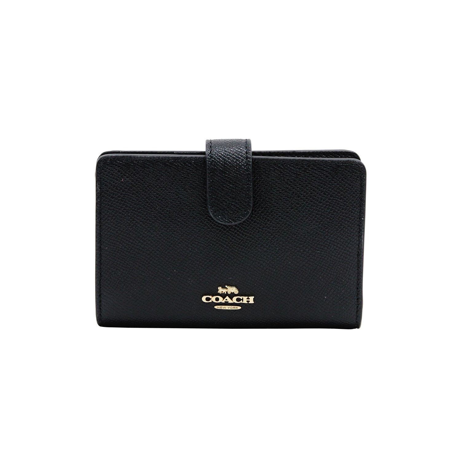 【特集セール】COACH Medium Corner Zip Wallet 27968 LIBLK 二つ折り財布